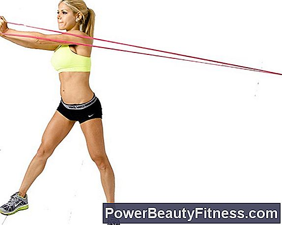 Exercise Routine With Elastic Band